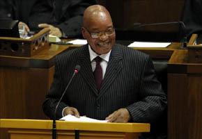 Jacob Zuma, con sus genitales al descubierto en una 'obra de arte'