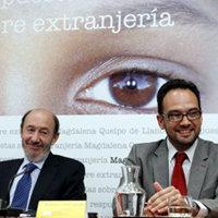 Rubalcaba y Antonio Hernando, en Madrid