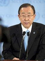 El secretario general de la ONU, Ban Ki-moon
