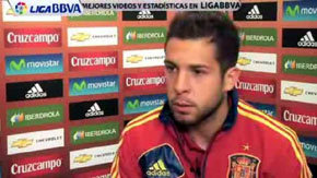EURO2012: Jordi Alba considera esperanzador el empate ante Italia