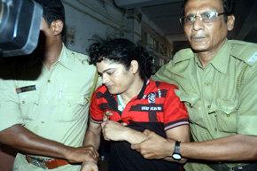 La ex atleta india Pinki Pramanik fue arrestada en las afueras de Calcuta.