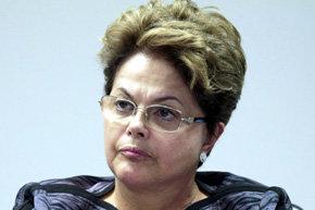 La presidente de Brasil, Dilma Rousseff,  en una imagen del pasado d�a 14JUN