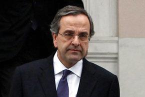Antonis Samarás, dirigente del partido conservador Nueva Democracia