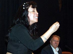 Judith Barrantes, en el momento del cierre del acto