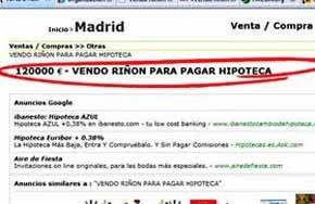 FACUA alerta que siguen proliferando anuncios de venta de �rganos a trav�s de Internet