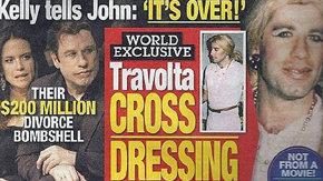 Aparecen im�genes de John Travolta vestido de mujer y Kelly Preston le abandona
