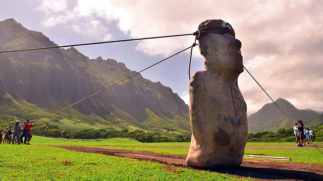Moai de Isla de Pascua habrían ido caminando a sus lugares de emplazamiento