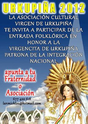 """La Virgen de Urkupiña"" prepara ya su ""Entrada 2012"""