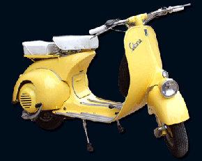 La vieja �motoneta� Vespa a�n circula por Madrid�