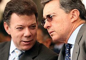 Santos (i) y Uribe: Eran otros tiempos...