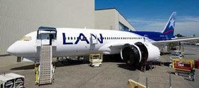 El primer B- 787 Dreamliner de Lan podría aterrizar en agosto en Santiago