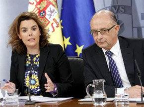 Soraya Sáenz de Santa Maria y Cristóbal Montoro