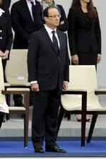El presidente francés, Francois Hollande este sábado, en París