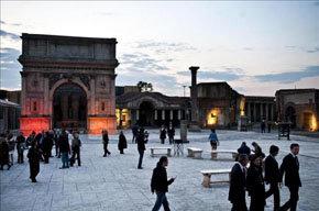 Vista parcial de los estudios Cinecittá de Roma