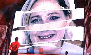 La l�der del partido ultraderechista franc�s, Marine Le Pen.