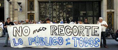 Protesta de funcionarios en Madrid