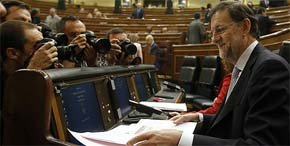 El jefe del Ejecutivo, Mariano Rajoy, en el Congreso de los Diputados