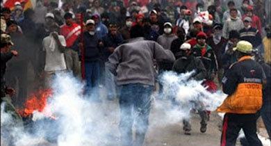 Fuertes enfrentamientos en Bolivia