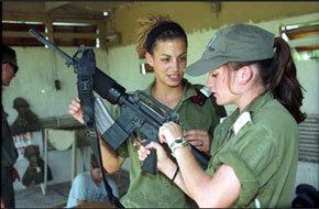 Mujeres soldados en Israel...
