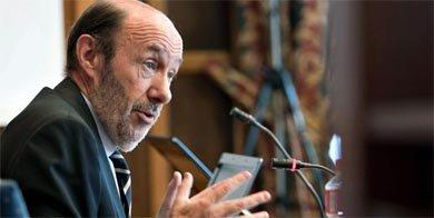 El secretario general del PSOE, Alfredo P�rez Rubalcaba