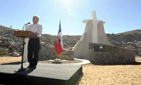 Presidente Piñera lideró conmemoración de los dos años del derrumbe en la mina San José