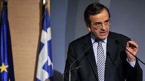 El primer ministro griego, Antonio Samaras