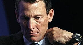 El exciclista estadounidense Lance Armstrong