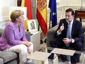 Angela Merkel y Mariano Rajoy