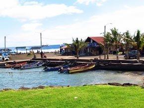 Puerto de Hanga Roa, en Isla de Pascua