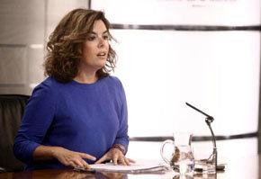 La vicepresidenta del gobierno, Soraya de Saénz de Santamaría