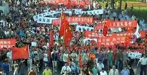 Continúa la oleada de protestas contra Japón en decenas de ciudades chinas
