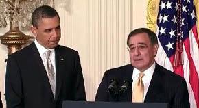 Leon Panetta, secretario de Defensa, con el presidente Barack Obama