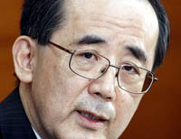 El gobernador del Banco de Japón, Masaaki Shirakawa.