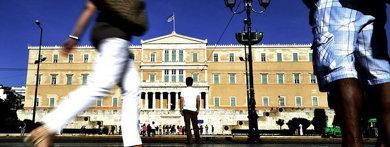 Exterior de parlamento griego.