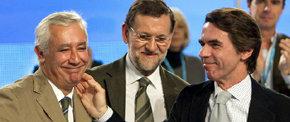 Javier Arenas, Mariano Rajoy y José María Aznar