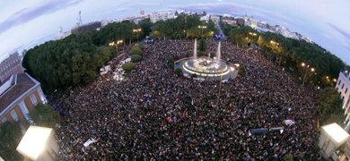 ¿4.500 personas?... La imagen habla por sí sola...
