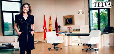 La alcaldesa de Madrid, Ana Botella en su despacho oficial
