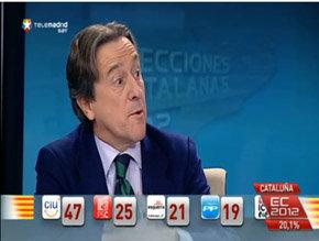 Hermann Tertsch, en el Especial Informativo con motivo de las Elecciones Catalanas en Telemadrid