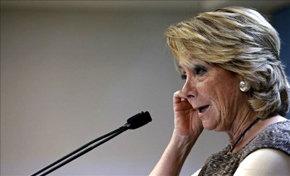 Esperanza Aguirre, ex presidenta de la Comunidad de Madrid