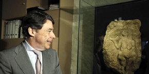 Ignacio González en el Museo Arqueológico Regional de Alcalá de Henares el pasado miércoles 19 de diciembre / EFE