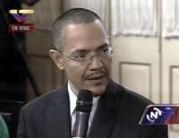 El ministro de Comunicación venezolano, Ernesto Villegas
