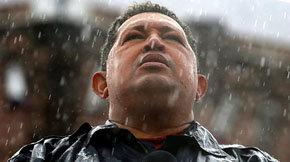 Hugo Chávez durante uno de los últimos mítines de la última campaña electoral.