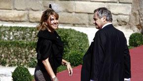 La presidenta de CLM Dolores Cospedal y su marido, Ignacio López del Hierro