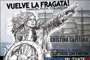 Kirchner aprovecha el regreso a Argentina de la fragata Libertad para darse un 'baño de masas'