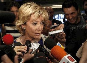 Esperanza Aguirre cree que los sindicatos son 'victimistas' y dice que pretenden 'cercenar mi libertad de expresión'