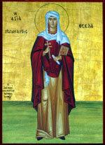 Santa Tecla, Iconografía de la santa siria en la catedral de Tuy