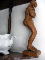 José Luis Fernández expone sus esculturas de madera en el Museo Tiflológico de Madrid