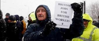 Trabajadores británicos protestan por la contratación de trabajadores extranjeros