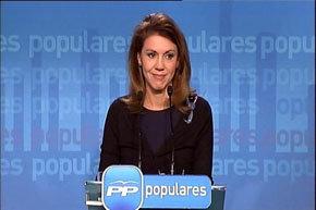 La Nº 2 del PP, Mª Dolores de Cospedal