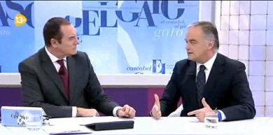 Antonio Jiménez y Esteban González Pons en 'El cascabel al Gato' de 13TV